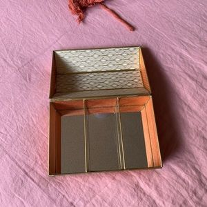 DECORATED ANTHROPOLOGIE MIRROR JEWELRY BOX